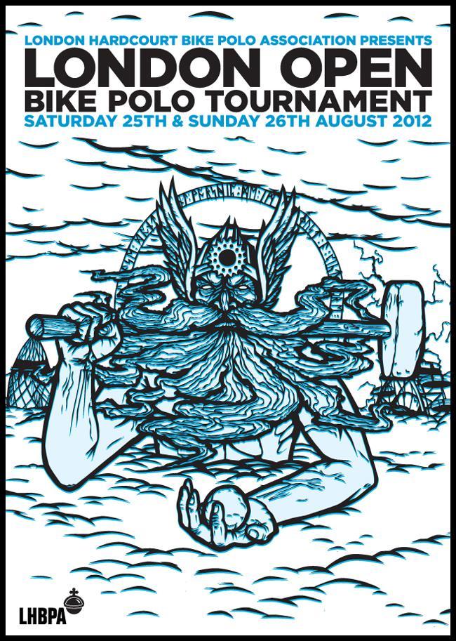 London open bike polo poster 2012