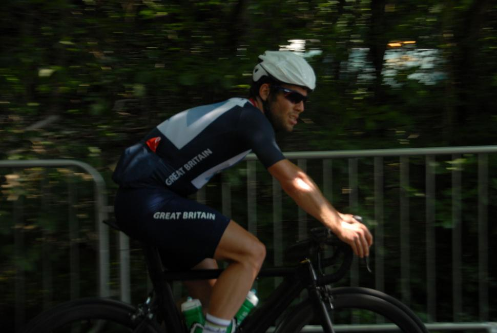 Mark Cavendish on Box Hill (pic Surrey News)
