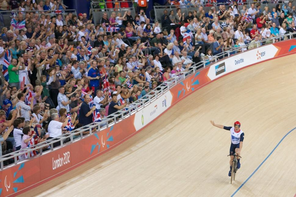 Mark Colbourne after winning Paralympic silver (copyright- Kelkel)