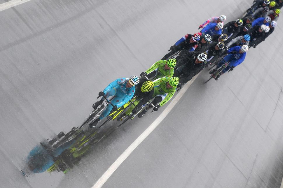 Milan-San Remo 2013 riding in the rain (picture Fabio Ferrari, LaPresse, RCS Sport)