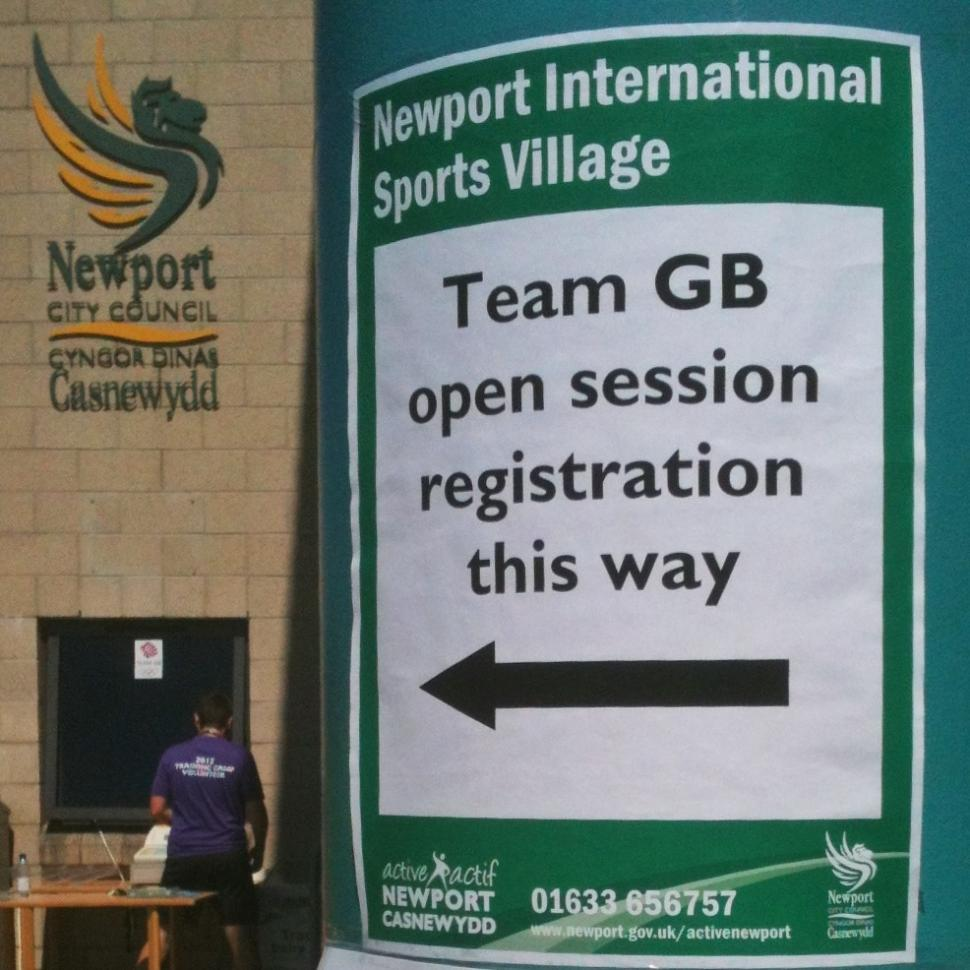 Newport Velodrome open session sign (copyright Simon MacMichael)