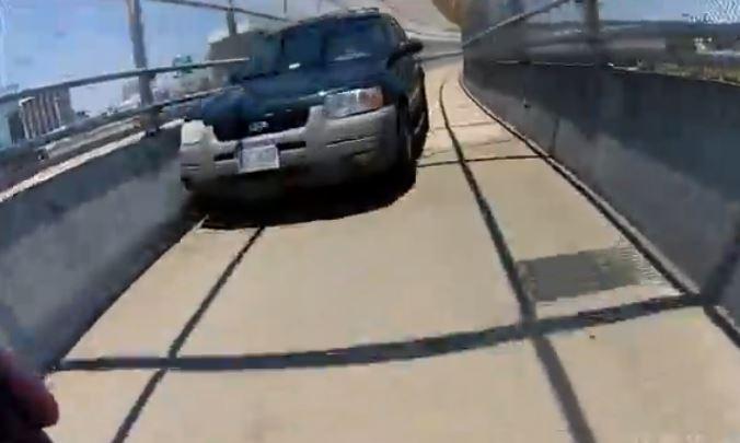 Norfolk VA pedestrian bridge collision YouTube still