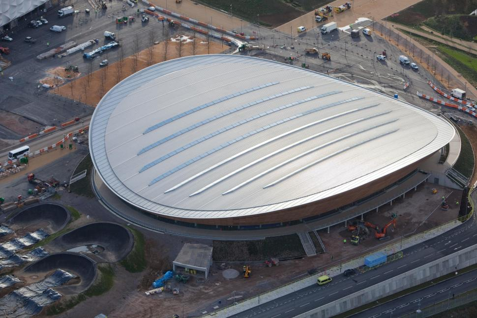 Olympic Velodrome aerial shot Dec 2011 (picture ODA)