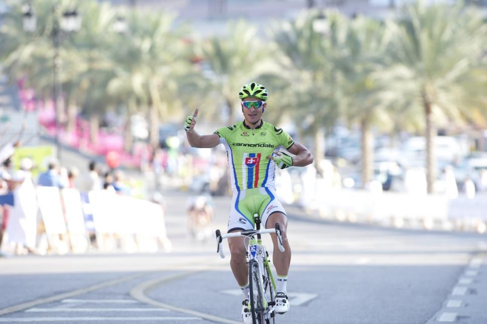 Peter Sagan wins Stage 2 of 2013 Tour of Qatar (picture Lloyd Images:Muscat Municipality)