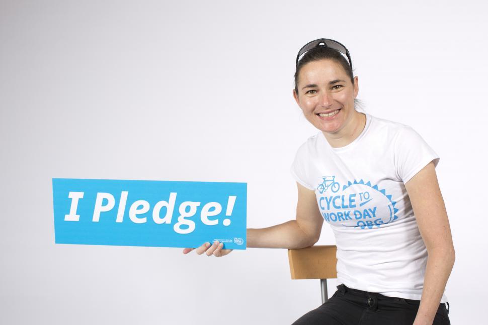 Dame Sarah Storey pledging to ride to work on September 4 (image via Cyclescheme)