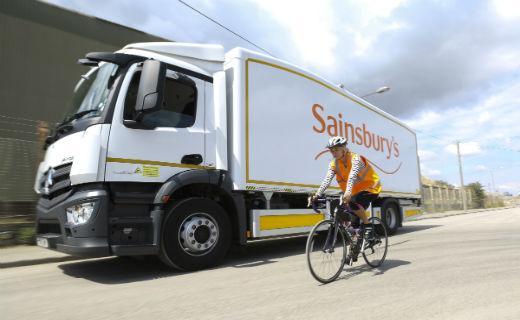 Sainsbury's safer lorry (source J Sainsbury plc)