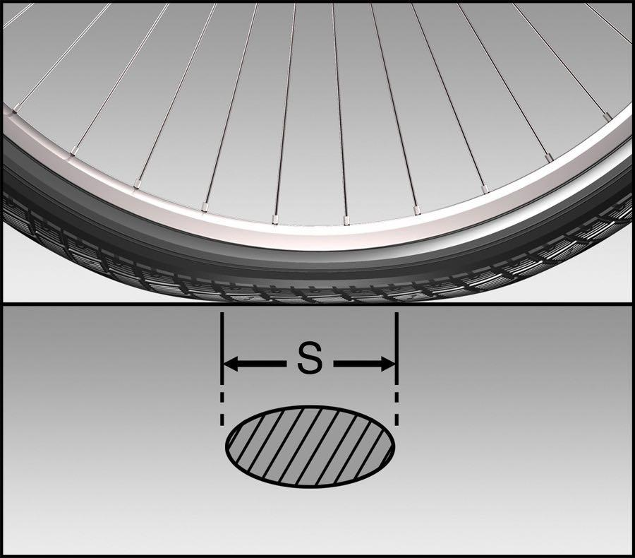 Schwalbe tyre contact area  - 2