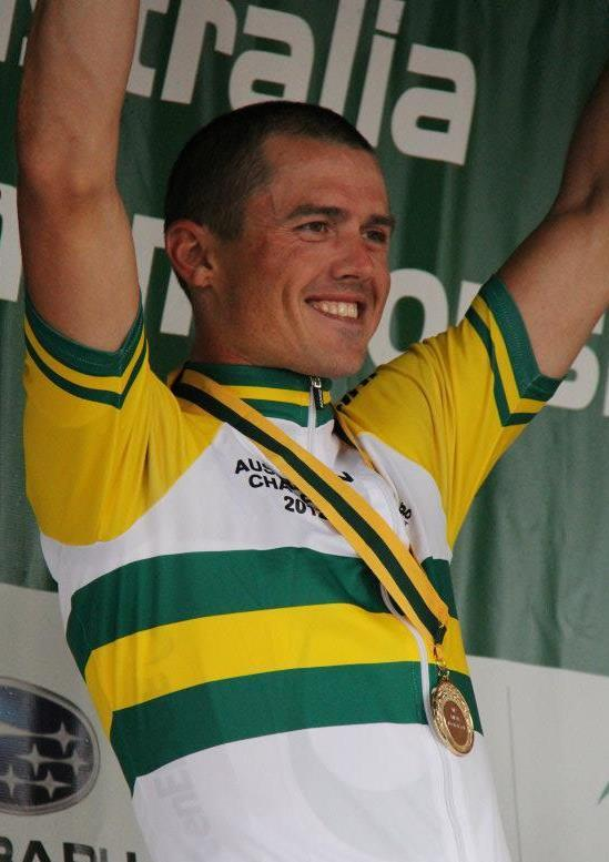 Simon Gerrans in Australian national champion's jersey (picture source - GreenEdge on Facebook