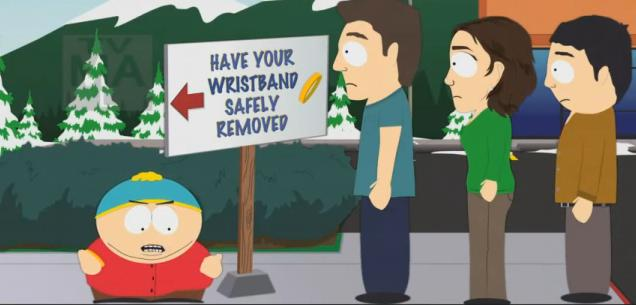 South Park Wristband Still (source Comedy Central)