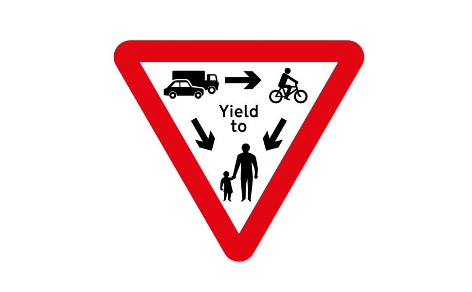 The P2P group's Golding Rule gives priority to vulnerable road users