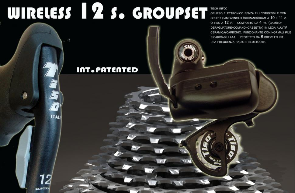 Tiso 12-speed groupset - cropped