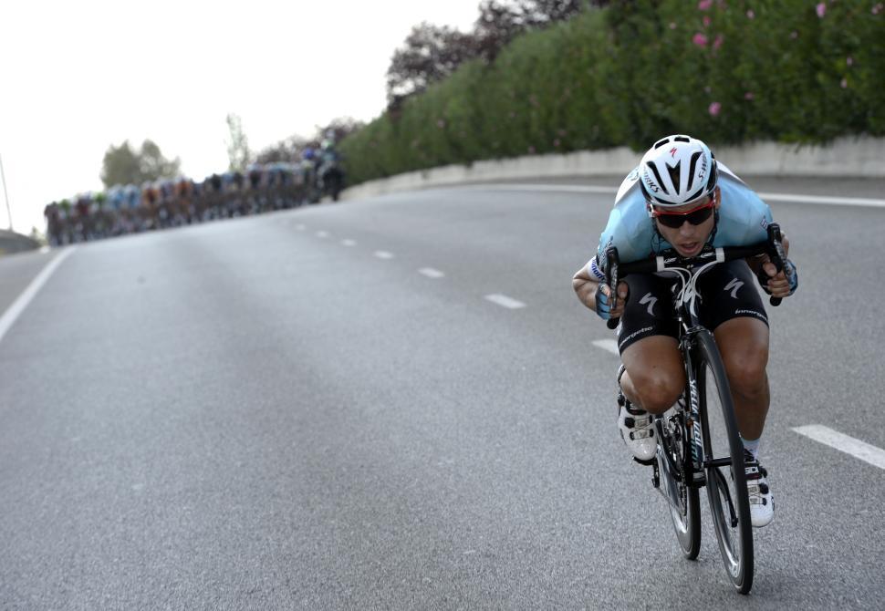 Tony Martin alone on Vuelta 2013 Stage 6 (copyright Unipublic:Graham Watson)