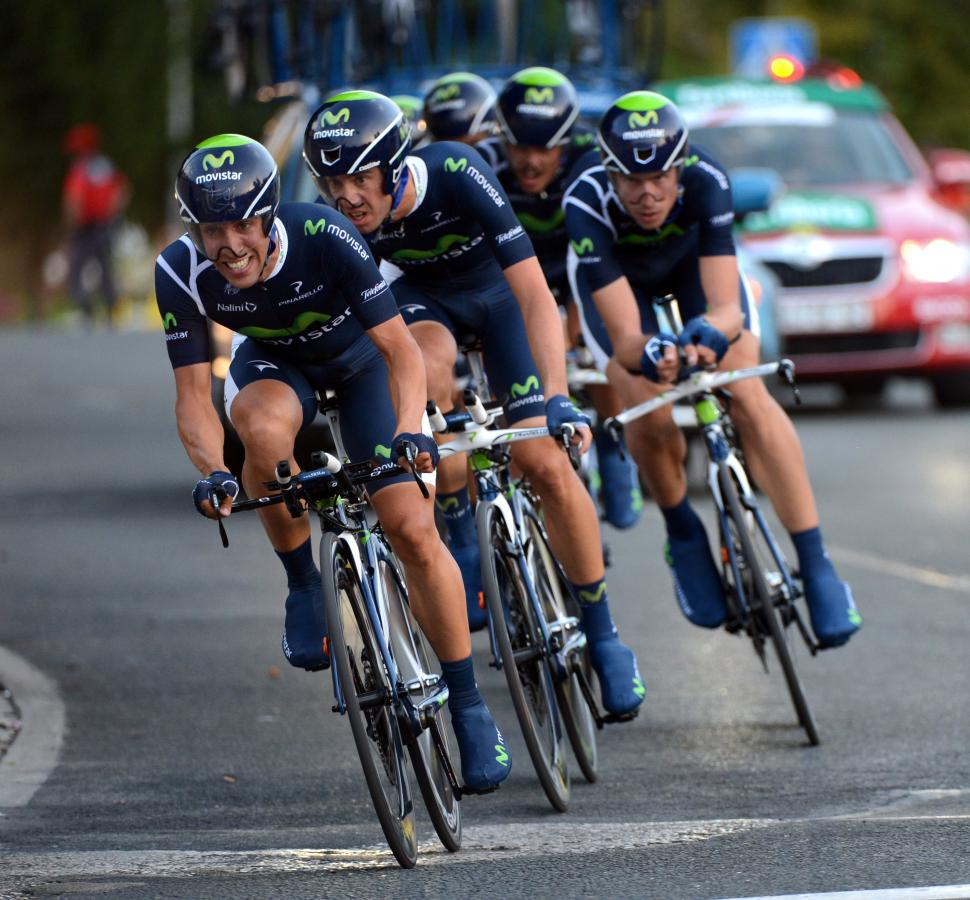 Vuelta 2012 S1 TTT winners Movistar (copyright Unipublic:Graham Watson)