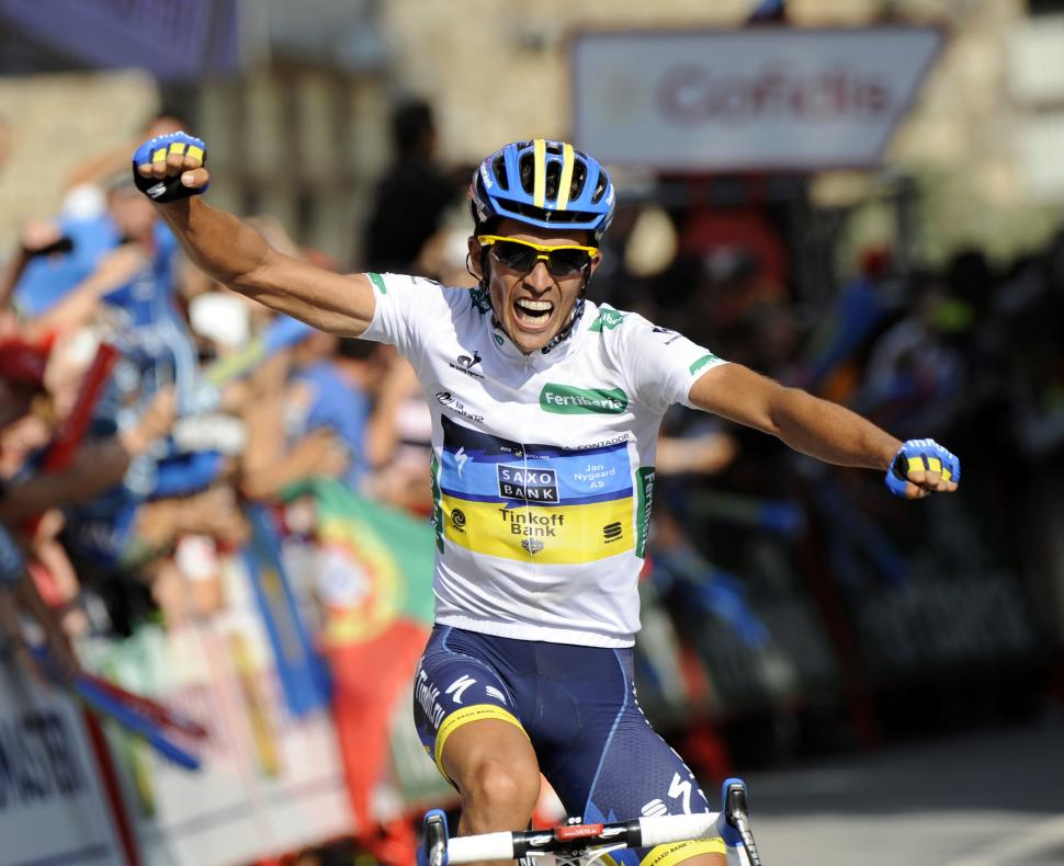 Vuelta 2012 S17 Alberto Contador wins stage and takes race lead (copyright UniPublic:Graham Watson)