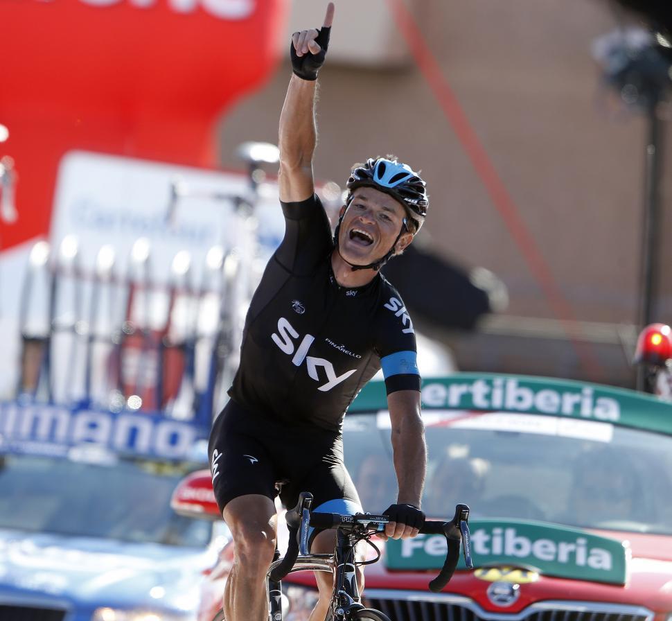 Vuelta 2013 Stage 18 Vasil Kiryienka wins (© Unipublic:Graham Watson)