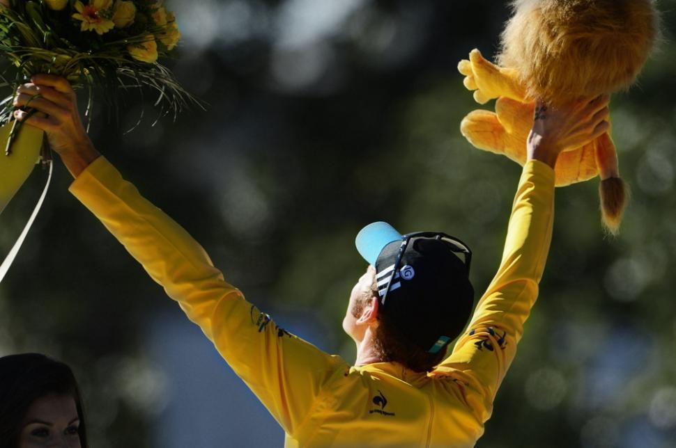 Wiggins on podium