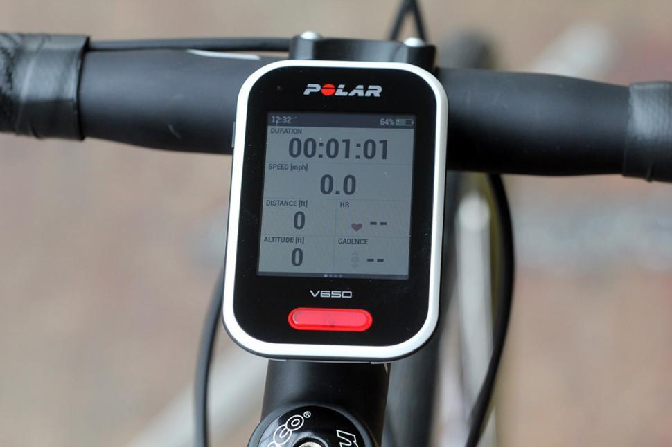 Polar V650 GPS cycling computer - screen 1
