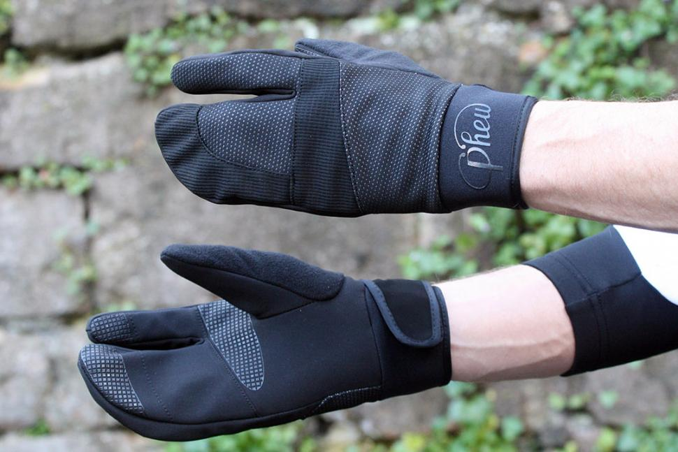 Review Phew Lobster Outer Shell Winter Cycling Gloves
