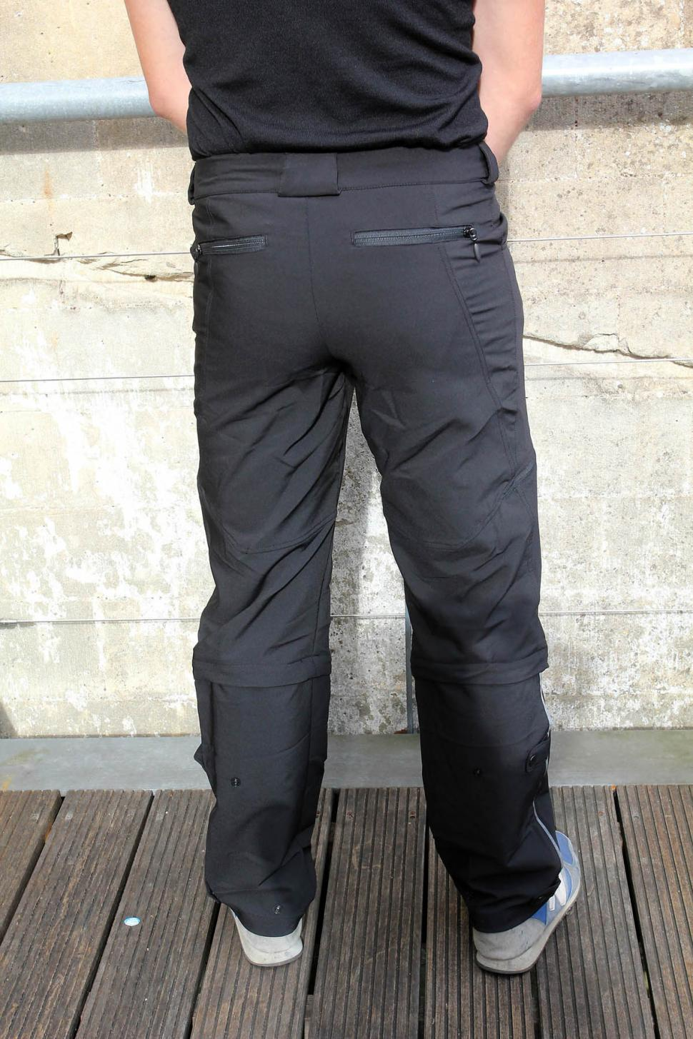 Showers Pass Hibrid Zip off pants rear