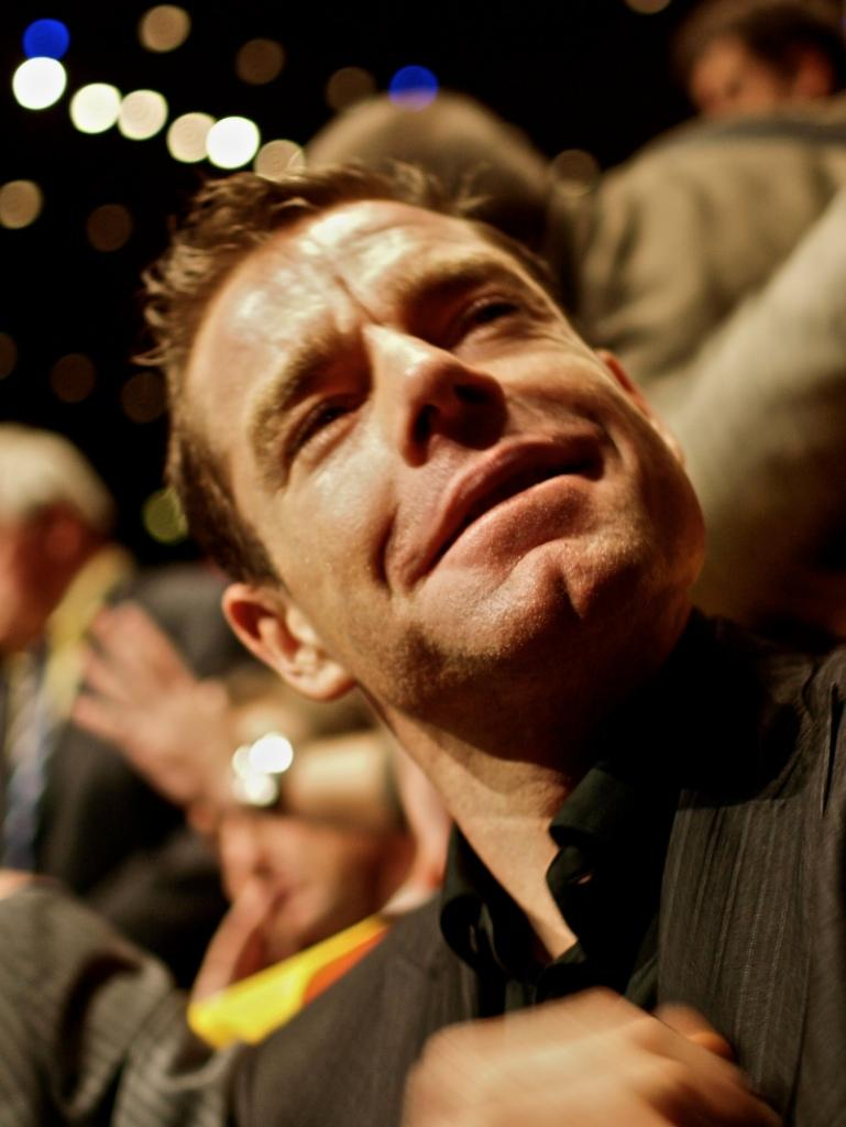 Cadel Evans at the 2011 Tour de France Presentation © Simon MacMichael