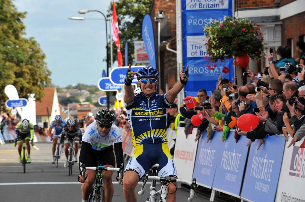Borut Bozic wins in Colchester (picture credit The Tour of Britain)