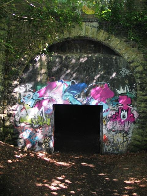 Two tunnels entrance