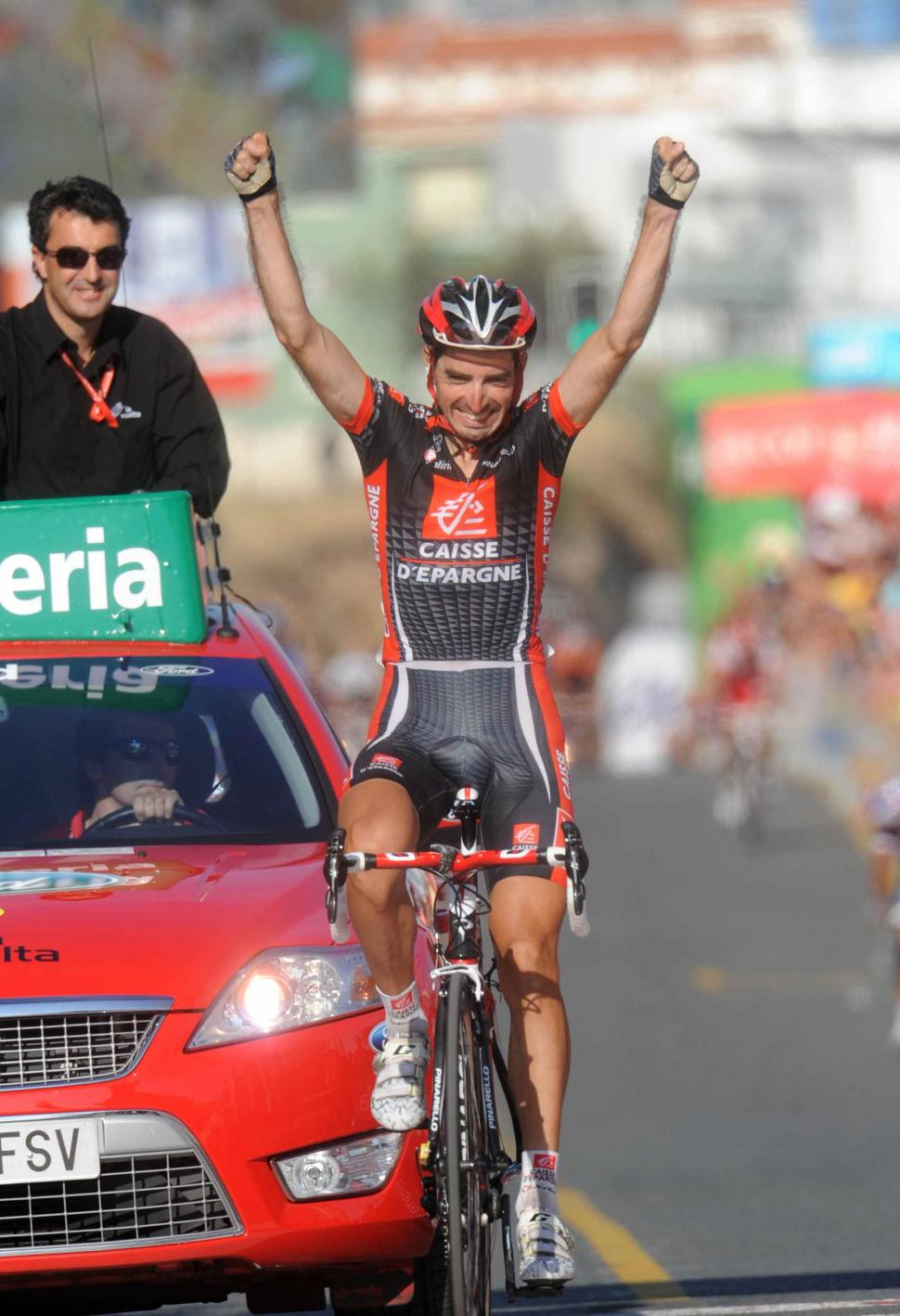 David Lopez wins Stage 9 of the 2010 Vuelta (copyright- Unipublic:Graham Watson)