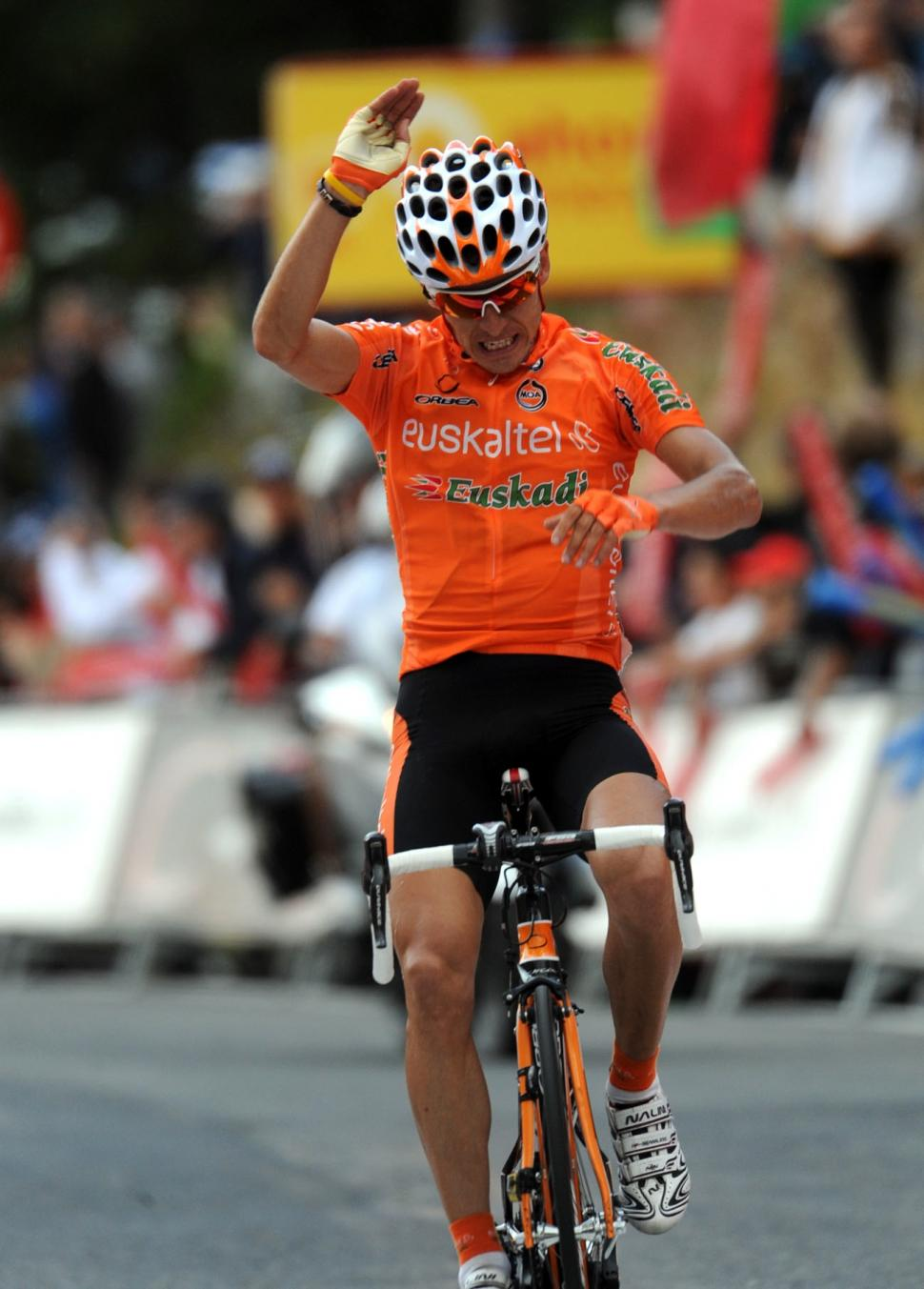 Igor Anton wins Stage 11 of the 2010 Vuelta (copyright Unipublic:Graham Watson)