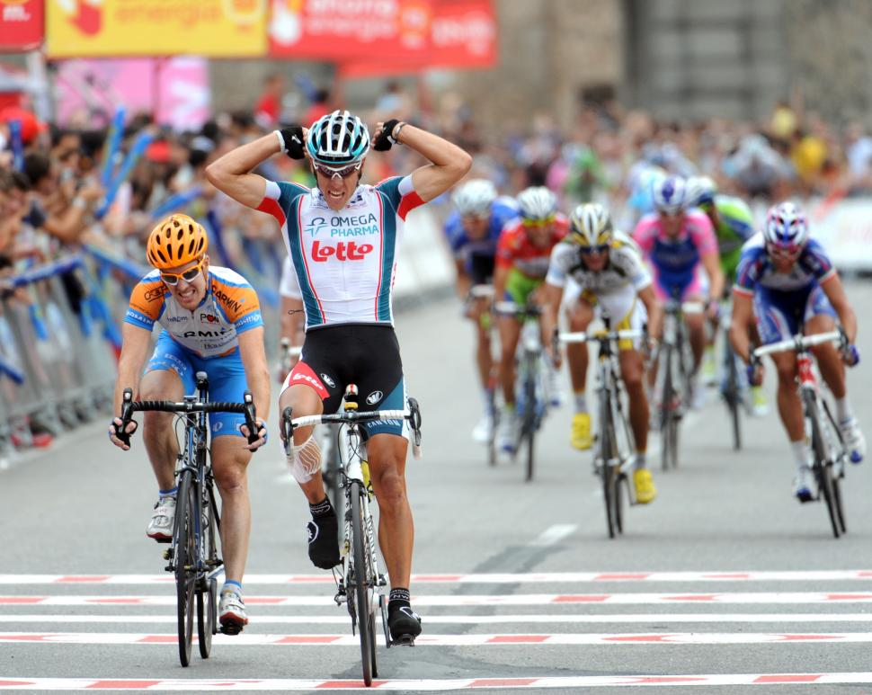 Philippe Gilbert wins in Toledo in the 2010 Vuelta (copyright Unipublic:Graham Watson)