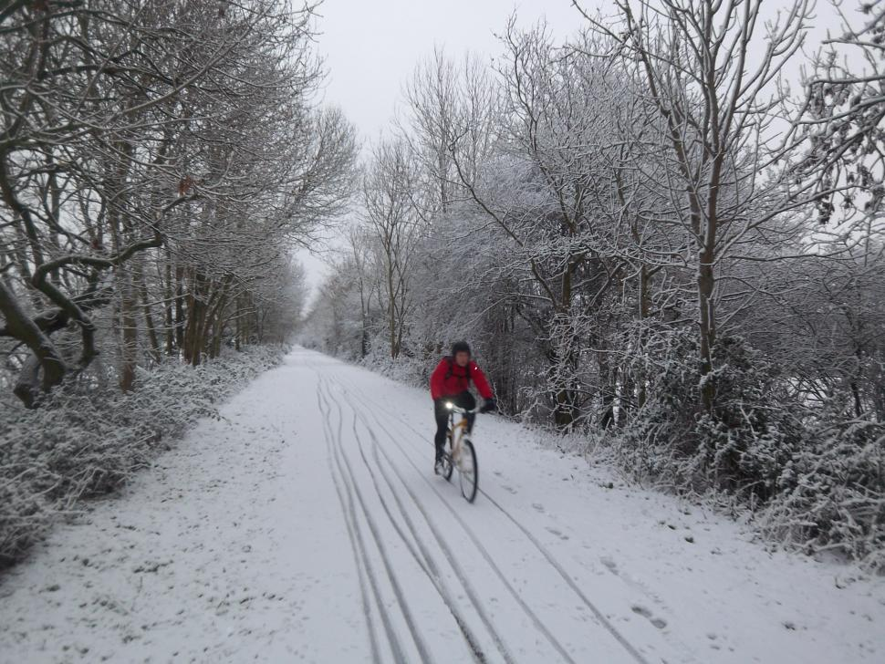Bath Bristol Bike Path- riding in the snow.JPG