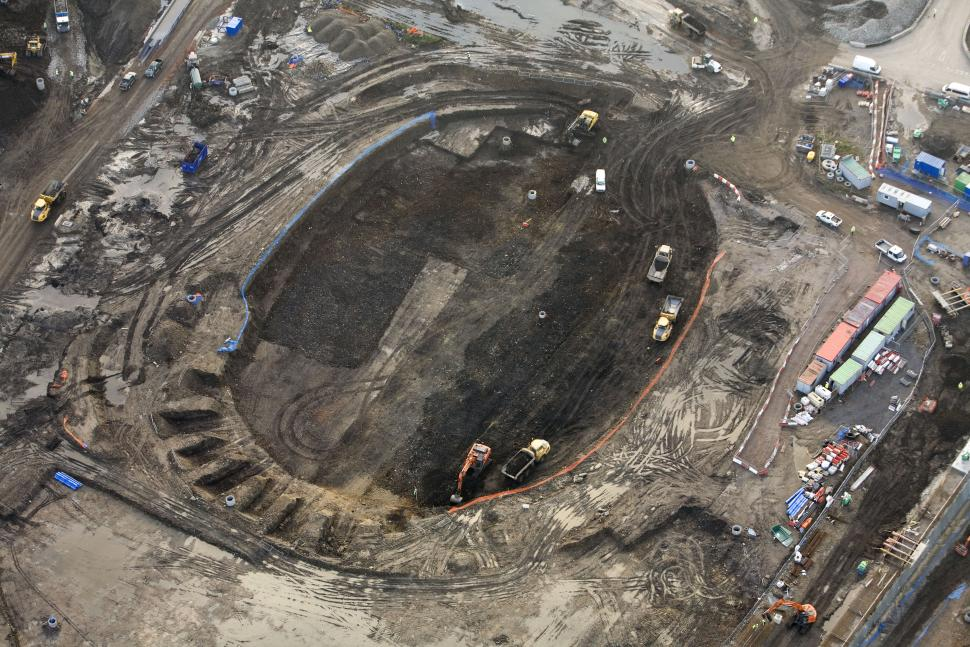 Olympic VeloPark - velodrome (aerial view)