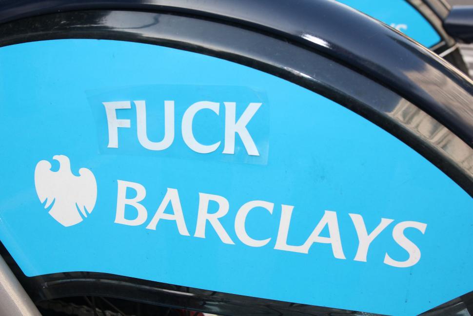 Barclays Hire Bikes - fuck