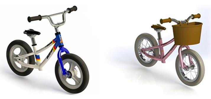 Raleigh Burner and Sherwood balance bikes.PNG
