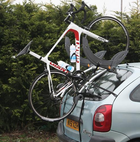 Lucky Escape For Driver As Bike Falls Off Rear Rack Of