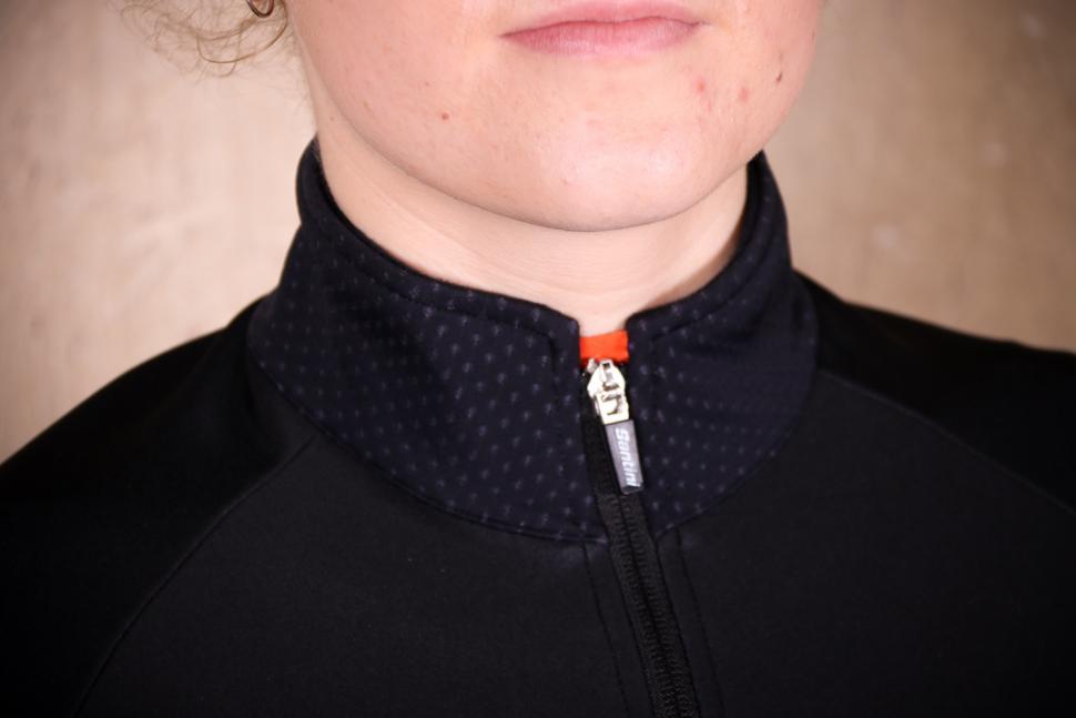 Santini Womens Beta Winter Windstopper Jacket - collar.jpg