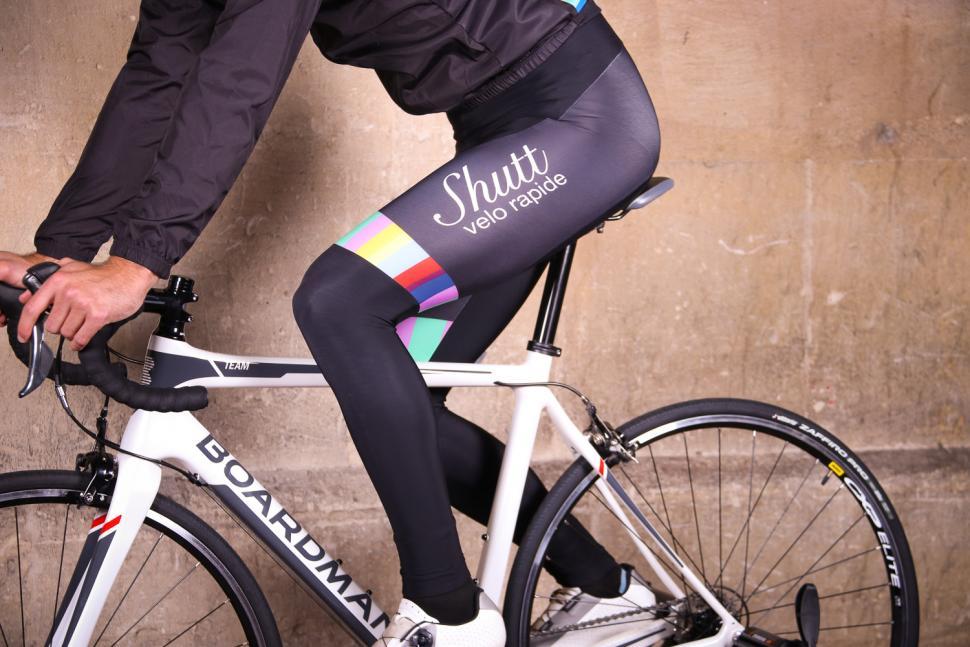 Shutt Velo Rapide Team Bib Tights - riding.jpg