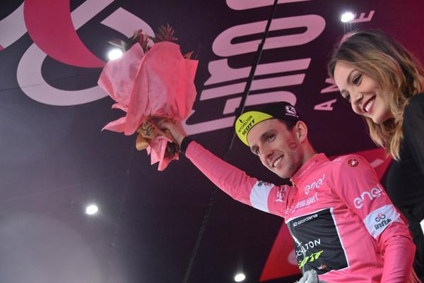 Simon Yates after winning Stage 11 of 2018 Giro d'Italia (picture credit LaPresse).jpg
