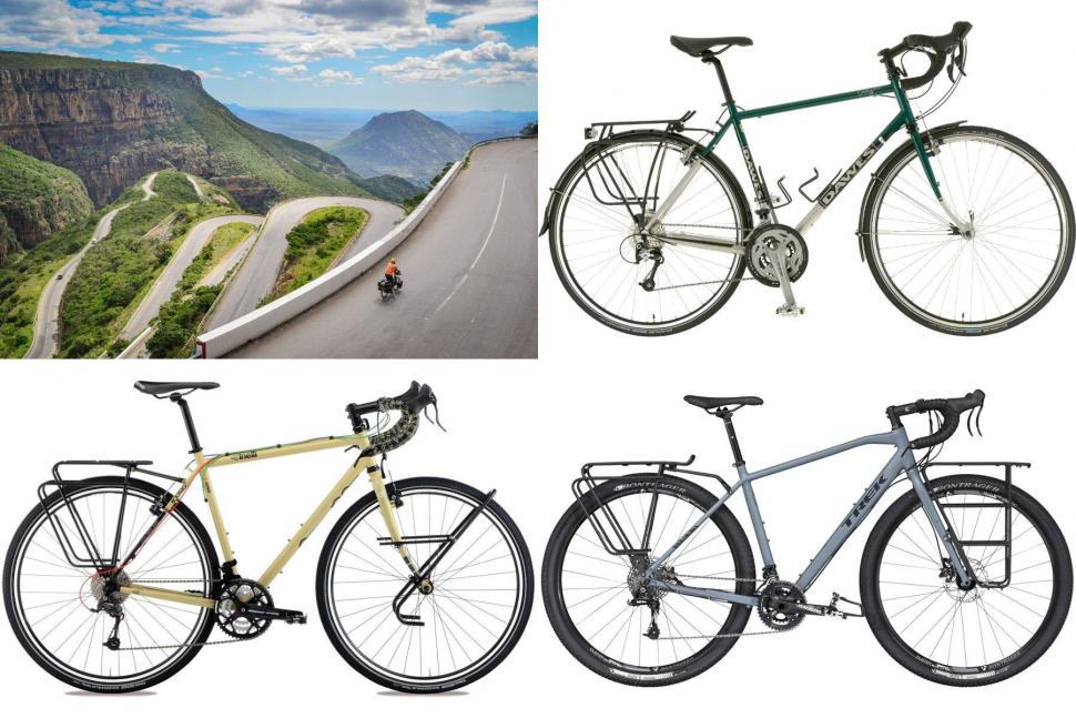 Touring bikes collage
