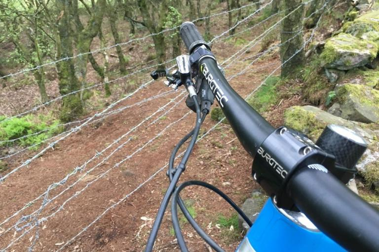 Barbed wire across mountain bike trail near Crewe (via Reddit).jpg
