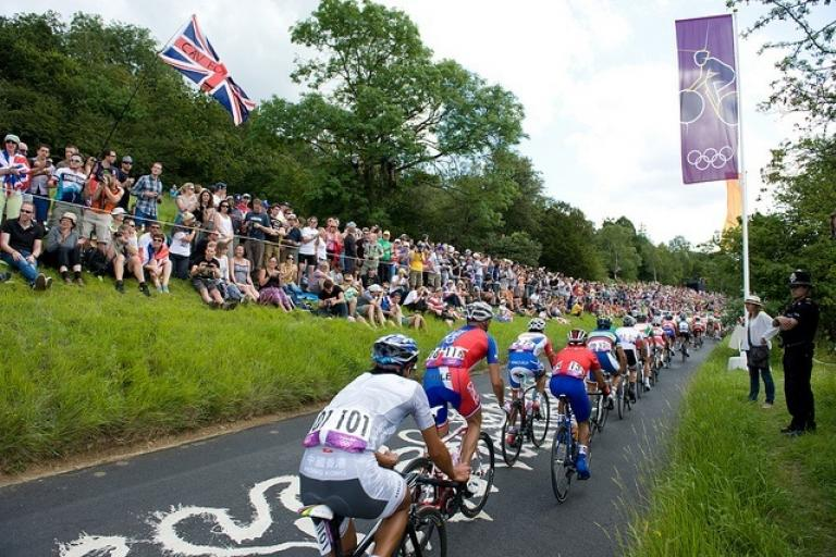 Box Hill's Zig Zag Road during the London 2012 Olympic Games men's road race (copyright Britishcycling.org_.uk).jpg