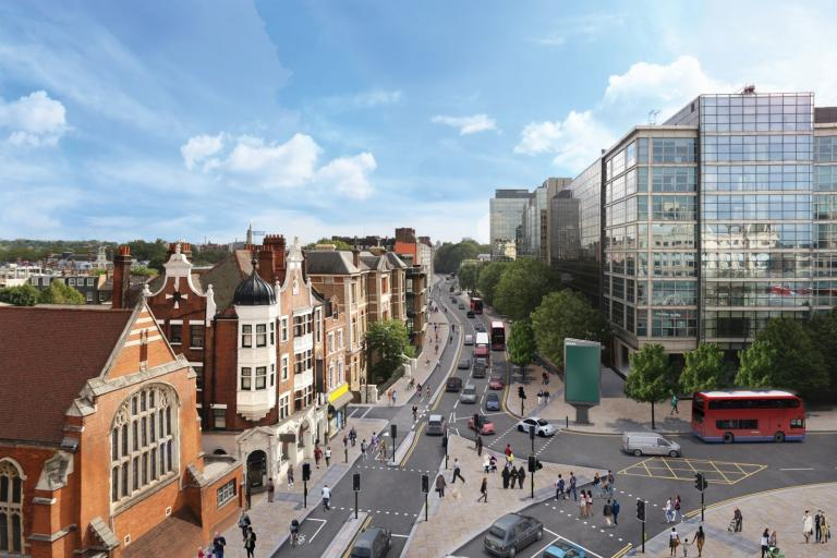 Cycle Superhighway 9 at Hammersmith CGI impression (source TfL).jpg