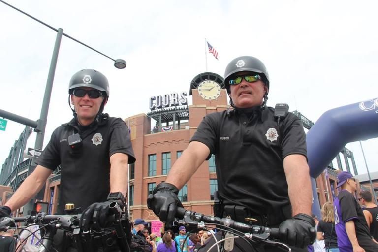 Denver Bike Police (via Denver PD on Faceboook)