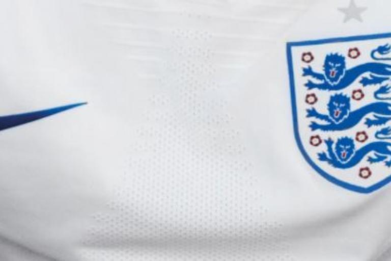 England 2018 football shirt detail (picture via Nike, cropped).JPG
