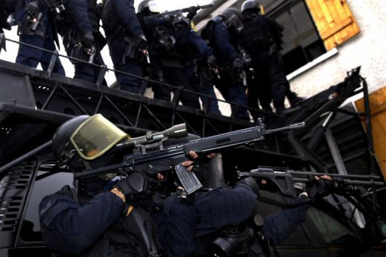 GIGN personnel during a training exercise (source - Gendarmerie Nationale, Ministere de l'Interieure).jpg