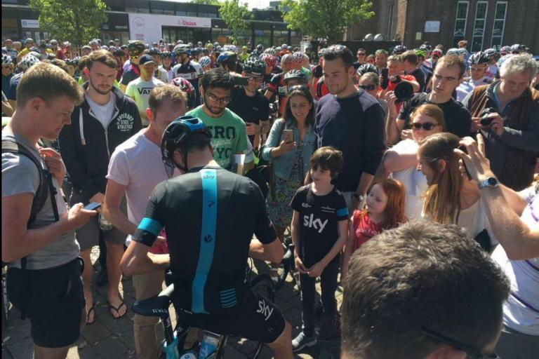 Chris Froome Southampton ride (image by Team Sky)
