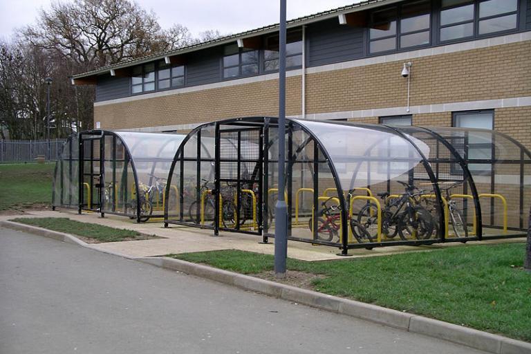 Bike sheds ©Snowmanradio, Wiki Commons