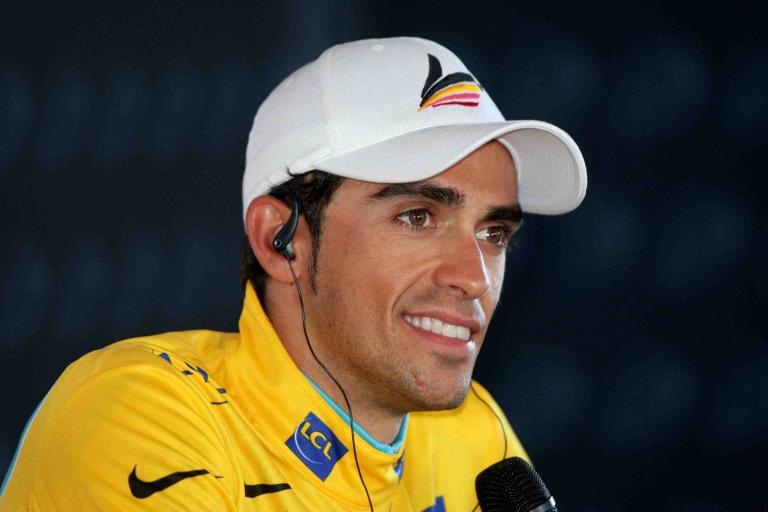 Alberto Contador Press Conference in Yellow © PhotoSport International.jpg