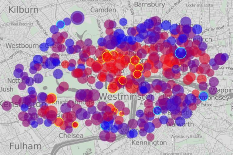 Barclays Cycle Hire Scheme Usage Visualisation by Oliver O'Brien.png