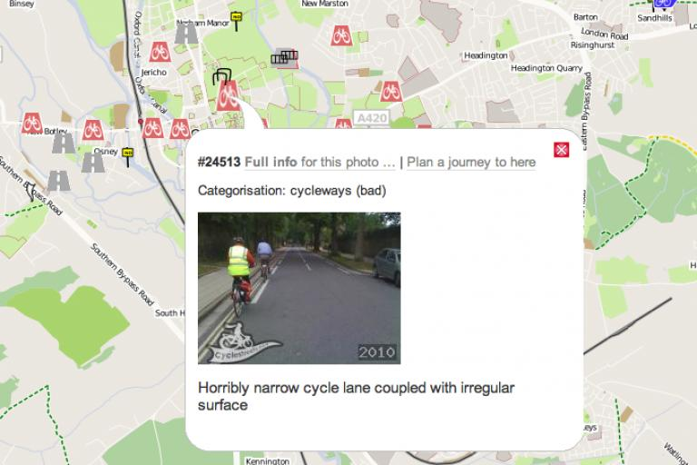 CycleStreets Photomap screengrab.png