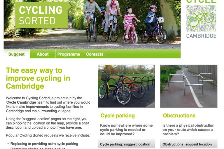 Cycling Sorted home page screenshot.png